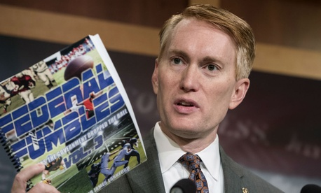 Sen. James Lankford, R-Okla., releases his report on waste.