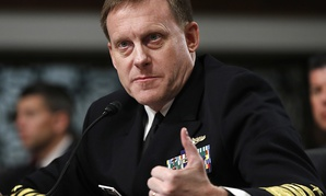 U.S. Cyber Command and the National Security Agency Director Adm. Mike Rogers.
