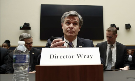 FBI Director Christopher Wray testifies during a House Judiciary hearing on Capitol Hill in Washington on Dec. 7.