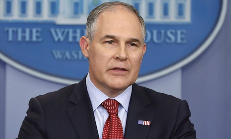 "EPA Administrator Scott Pruitt told lawmakers he was committed to ensuring the agency's scientific data is ""presented openly and with integrity, and is free from political interference."""