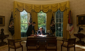 President Trump in the Oval Office Oct. 17.