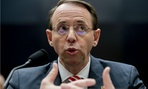 Deputy Attorney General Rod Rosenstein testifies on Capitol Hill Wednesday.
