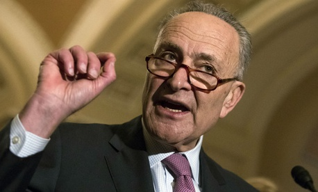 "Senate Minority Leader Chuck Schumer, D-N.Y., said: ""We must lift the spending caps for defense and also those urgent domestic priorities, in equal measure."""
