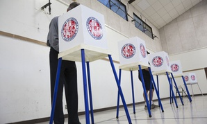 Californians vote in the 2014 midterm elections.