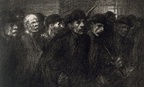 """Workers Leaving the Factory,"" 1903 by Théophile Alexandre Steinlen."
