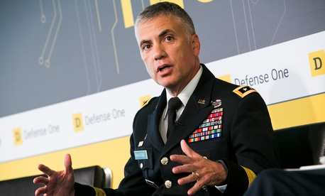 Ltg. Paul Nakasone discusses the future of AI and US Cyber Command at the second Defense One Technology Summit in June.