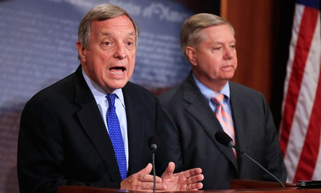 Senators Richard Durbin (left) and Lindsey Graham were part of a group that reached a deal on DACA on Thursday.