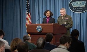 Pentagon spokesperson Dana White told reporters today the services are encouraged to talk about readiness shortfalls — but carefully, or in closed-door sessions with Congress.