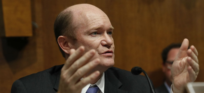 """Sen. Chris Coons, D-Del., said that with the rhetoric """"amped up on both sides,"""" a shutdown is likely, though not desirable."""