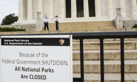 The Lincoln Memorial is shown during the 2013 shutdown.