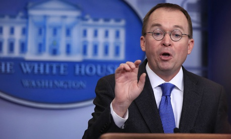 OMB Director Mick Mulvaney conducts a press briefing on Friday with a shutdown looming.