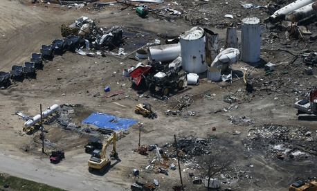 Damage from the fertilizer plant explosion in West, Texas, in 2013. The Chemical Safety Board helped investigate that explosion.
