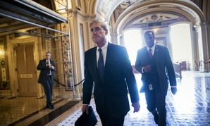 Special Counsel Robert Mueller departs the Capitol after a closed-door meeting with members of the Senate Judiciary Committee.