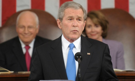 George W. Bush delivers the State of the Union in 2008.