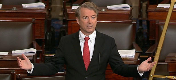 Sen. Rand Paul, R-Ky., held up passage of a spending agreement.