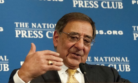 Then-Defense Secretary Leon Panetta at the National Press Club in 2012.