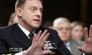 The outgoing U.S. Cyber Command leader Adm. Mike Rogers