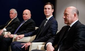 Rex Tillerson, H.R. McMaster, Jared Kushner, and Gary Cohn