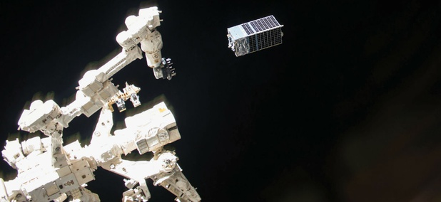 The Kestrel Eye, a visible-imagery satellite prototype designed to provide near-real-time images to the tactical-level ground soldier, was launched to the International Space Station in August.
