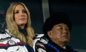 Ivanka Trump and Kim Yong Chol, vice chairman of North Korea's ruling Workers' Party Central Committee, right, watch the closing ceremony of the 2018 Winter Olympics in Pyeongchang on Feb. 25.