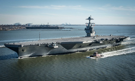The CVN-78 Ford aircraft carrier program, in which problems with integrating several unproven subsystems led to massive cost overruns.
