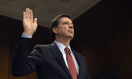 FBI Director James Comey is sworn in Dec. 9, 2015, prior to testifying before the Senate Judiciary Committee about the San Bernardino terrorist attack.