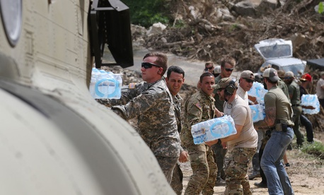 Some 17,000 U.S. troops aided in the Caribbean relief effort after hurricanes Irma and Maria. That's roughly equivalent to the U.S. military's humanitarian mission in the Philippines after Typhoon Hiyan in 2013
