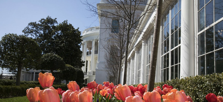 Spring has come to the White House.