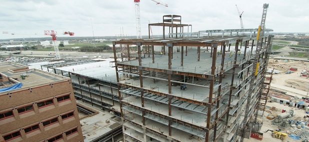 Construction of San Antonio Military Medical Center's consolidated tower as result of 2005 BRAC plans, March 2010.