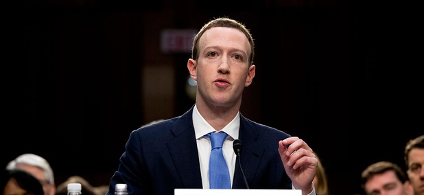 Mark Zuckerberg testifies before a joint hearing of the Commerce and Judiciary Committees on Tuesday.
