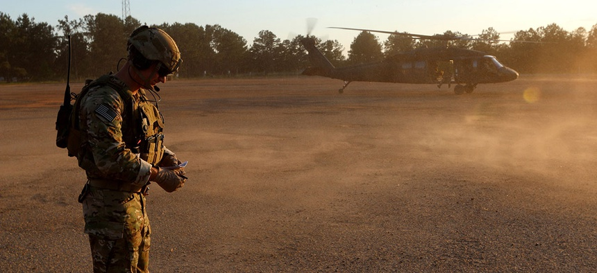 Rangers from the 75th Ranger Regiment train at Fort Benning, Ga.