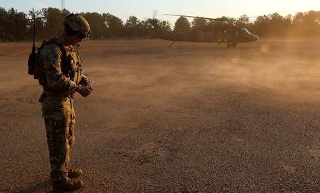 Rangers from the 75th Ranger Regiment train at Fort Benning, Ga.