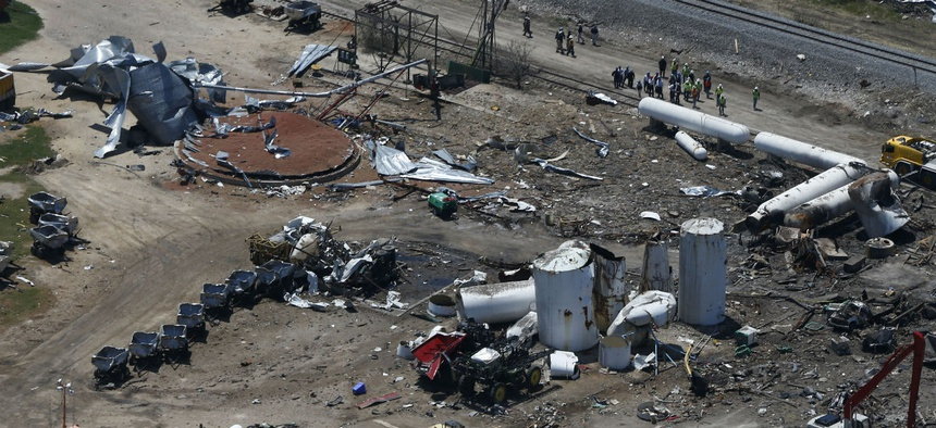 The Chemical Safety Board, which is on Trump's chopping block, investigated the April 2013 fertilizer plant explosion in West, Texas.