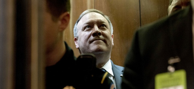 Secretary of State nominee Mike Pompeo met with Senators on Capitol Hill April 9.