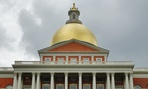 The Massachusetts Statehouse in Boston.
