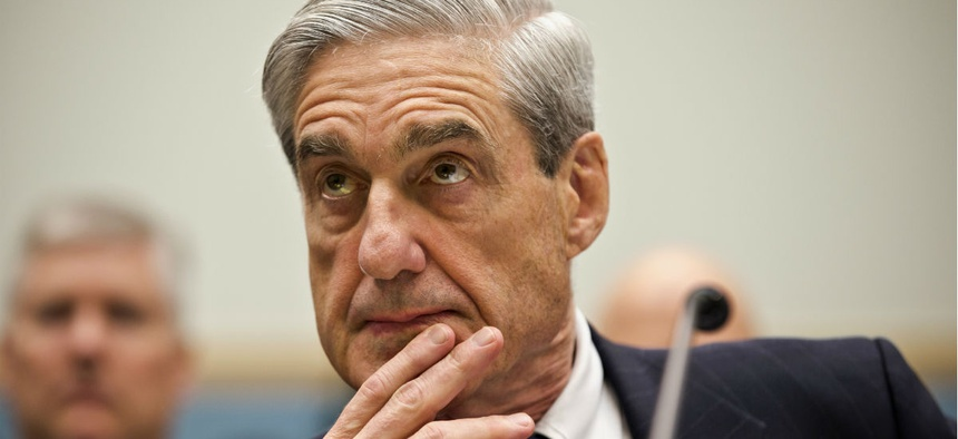 Robert Mueller testifies on Capitol Hill in 2013. The Justice Department alumni said many of them had worked with Mueller and knew him to be a dedicated public servant.