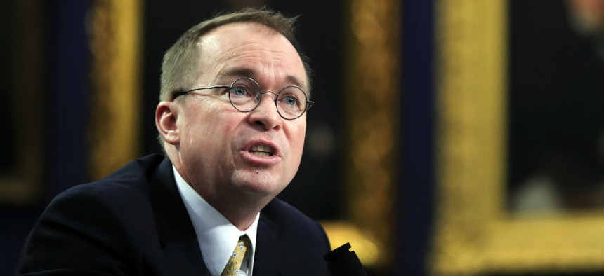 OMB Director Mick Mulvaney testifies before a House Appropriations subcommittee Wednesday.