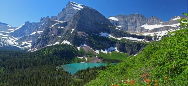 Glacier National Park in Montana.