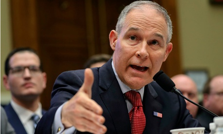 EPA Administrator Scott Pruitt testifies on Capitol Hill Thursday.