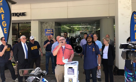 Witold Skwierczynski, president of the AFGE's National Council of Social Security Administration Field Operations Locals, addresses the rally.