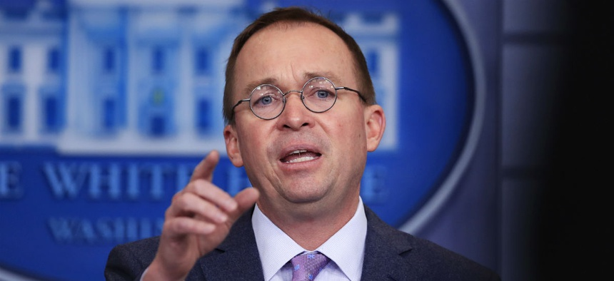 OMB Director Mick Mulvaney had been working with Republicans in Congress on ways to offset spending hikes.