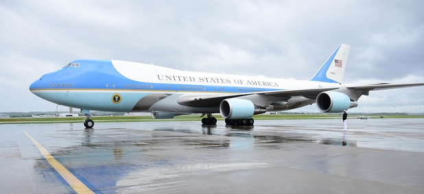 Air Force one lands at Nashville International Airport, on May 29 in Nashville.