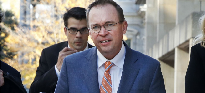 Mick Mulvaney in November arrives at CFPB, where he is acting director.