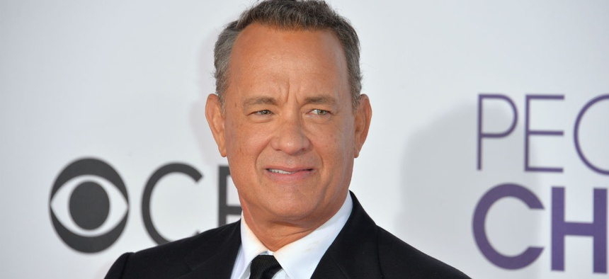 Tom Hanks at the 2017 People's Choice Awards at The Microsoft Theatre, L.A. Live, Los Angeles.