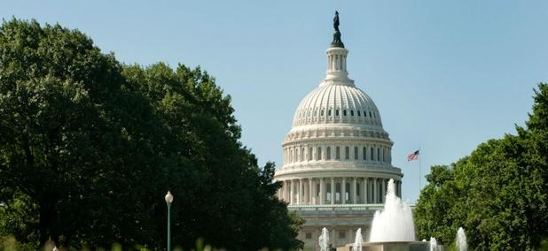 The U.S. Capitol and Senate Fountain