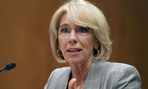 Education Secretary Betsy DeVos testifies during a Senate hearing about the department's funding on June 5.