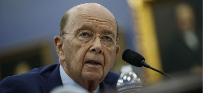 Commerce Secretary Wilbur Ross testifies before Congress in March.