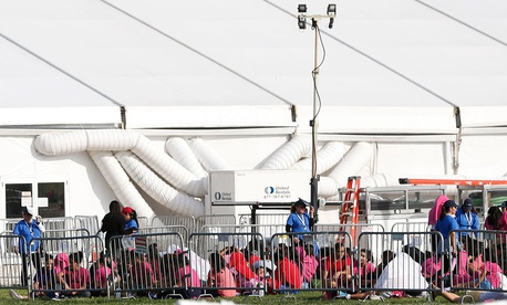 Immigrant children separated from their family are housed at a former Job Corps site in Florida