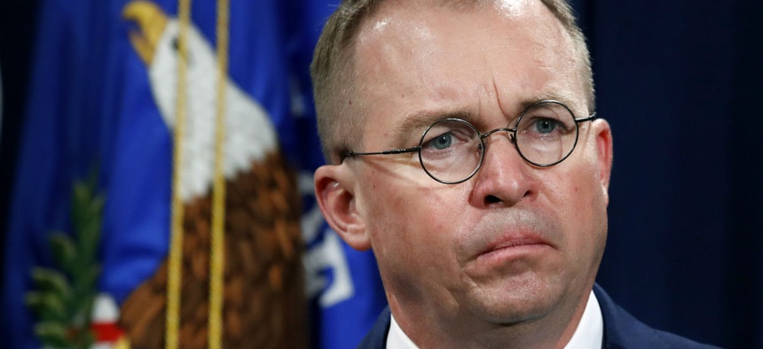 "Original memo from Mick Mulvaney to agencies included ""Reducing the Federal Civilian Workforce"" in the title."