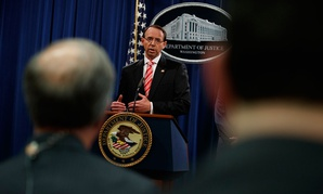Deputy Attorney General Rod Rosenstein announced the 12 Russian indictments Friday.